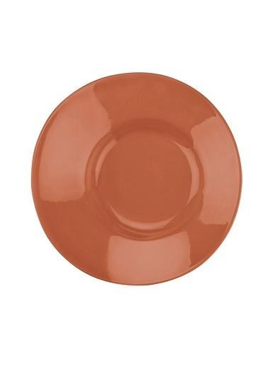 Kütahya Porselen Aura 20 cm Çukur Tabak Kirmizi Kırmızı